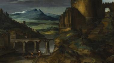 Géricault, Paysage au tombeau, le midi