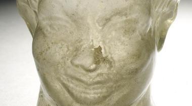 Gobelet en forme de tête de nègre souriant