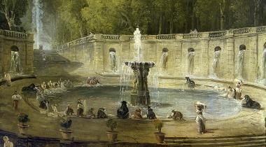 Lavandières dans un parc