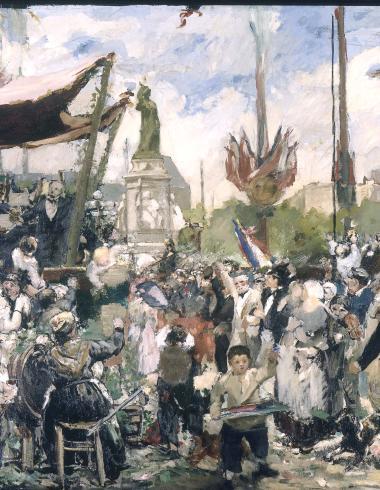 Le 14 juillet 1880, inauguration du monument à la République