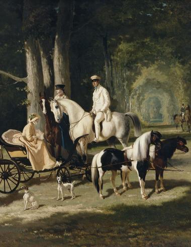 Portrait de Monsieur et Madame Mosselman et de leurs deux filles