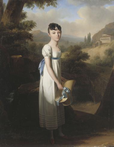 Portrait de mademoiselle Athénaïs d'Albenas
