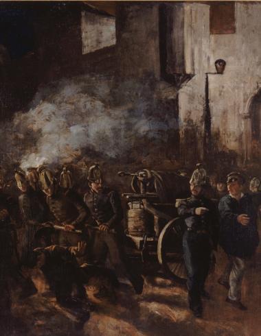 Pompiers courant à un incendie