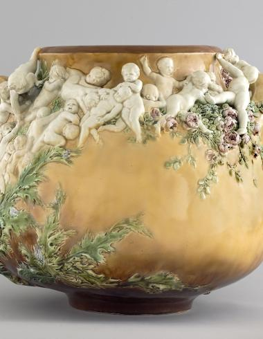 """Vase """"La Lutte pour la vie"""""""