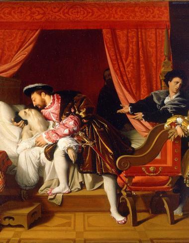 François 1er reçoit les derniers soupirs de Léonard de Vinci