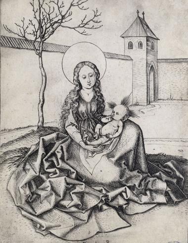 La Vierge assise dans une cour (Bartsch 32)