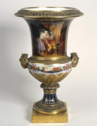Lachassaigne, Vase : Van Dyck peignant son premier tableau d'après Ducis