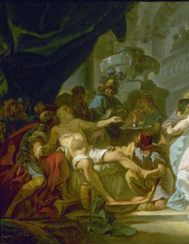 David, La mort de Sénèque (esquisse)