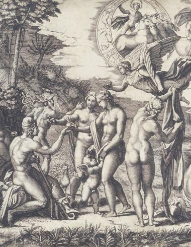 Raimondi, Le Jugement de Pâris d'après Raphaël