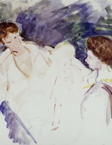 "Cassatt, Etude pour ""Le Bain"", DDUT1177"