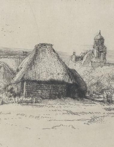 Rembrandt, Le Grand Paysage à la tour, GDUT7905