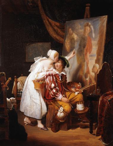 Van Dyck peignant son premier tableau