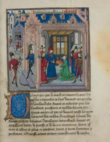 Livre des Conquestes et faits d'Alexandre, f. 7r