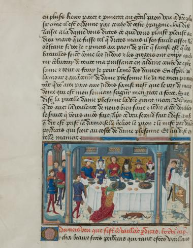 Livre des Conquestes et faits d'Alexandre, f. 86v