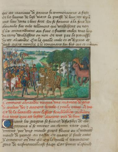 Livre des Conquestes et faits d'Alexandre, f. 262r