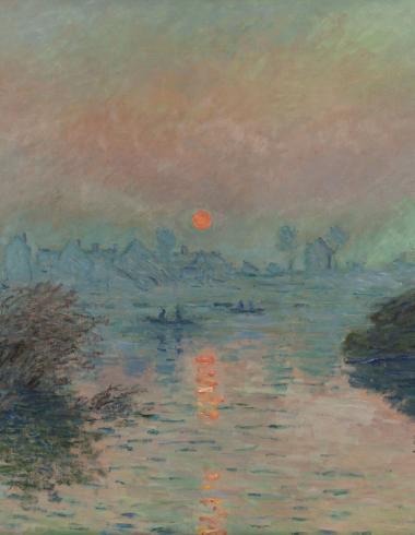 Monet, Soleil couchant sur la Seine à Lavacourt, effet d'hiver, PPP439