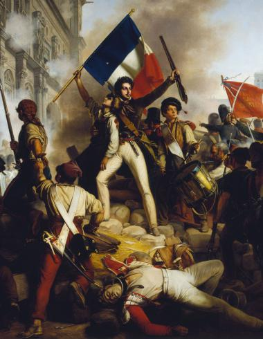 Combat devant l'Hôtel de Ville le 28 juillet 1830