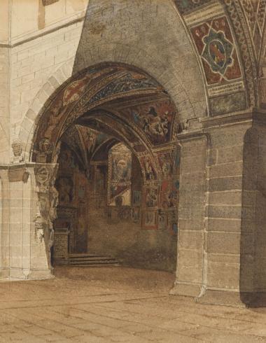 La Cour du palais du Bargello à Florence