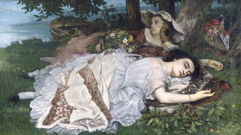 Courbet, Les demoiselles des bords de la Seine (été)
