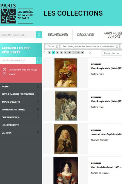 City of Paris municipal collection's website