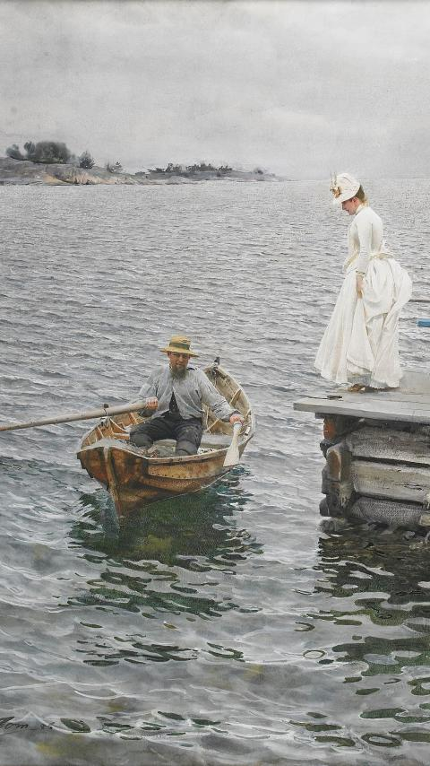 Anders Zorn, Vacances d'été, aquarelle, 1886 © Collection particulière / photo Hans Thorwid