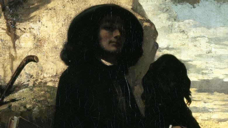 Autoportrait dit Courbet au chien noir