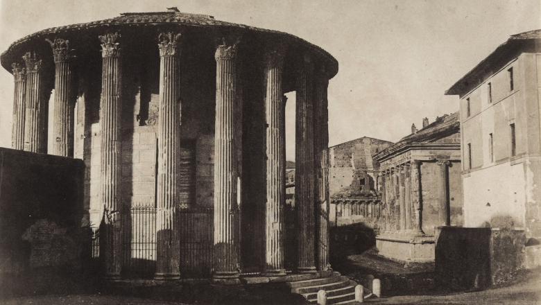Giacomo Caneva, Rome, temple de Vesta