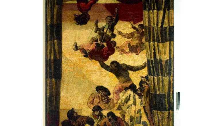 «Salon Sert» hôtel Waldorf Astoria, Les noces de Camacho, – Trapèzes, 1931 / Crédit : Crédit : Fondation Banco Santander, Madrid, Collection Santander, Madrid