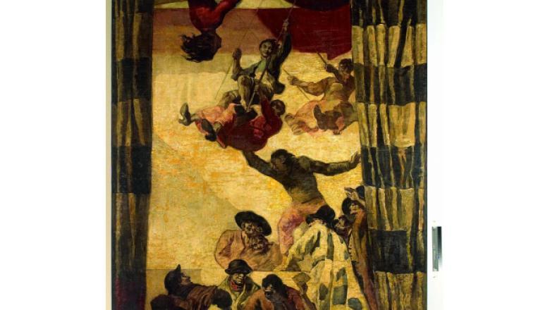 «Salon Sert» hôtel Waldorf Astoria, Les noces de Camacho, – Trapèzes, 1931 / Crédit : Crédit : Fondation Banco Santander, Madrid, Collection Santander, Madrid