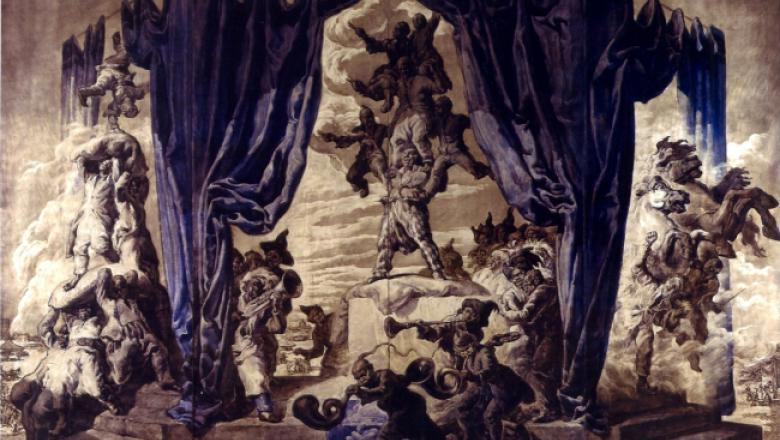 Scènes de cirque - paravent pour le boudoir de la reine d'Espagne, 1920 / Crédit : Crédit : Patrimonio nacional - palacio de El Pardo, Madrid