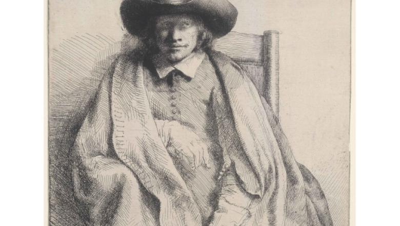 """Harmensz Van Rijn Rembrandt """"Clément de Jonghe"""". Gravure / Crédit : Petit Palais / Roger-Viollet"""