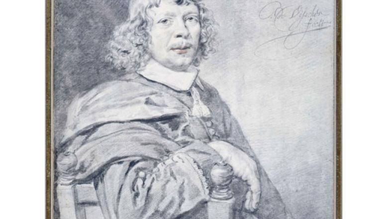 """Cornelis Visscher. """"Portrait d'homme assis, tourné à doite"""" / Crédit : Petit Palais / Roger-Viollet"""