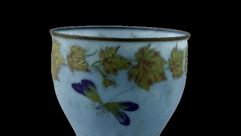 Albert-Louis Dammouse. Vase. Pâte de verre. 1927. Musée des Beaux-Arts de la Vil / Crédit : © Eric Emo / Petit Palais / Roger-Viollet