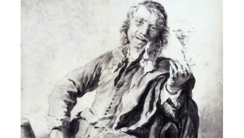 """Franz van Mieris le Vieux """"Le Joyeux buveur"""" / Crédit : Petit Palais / Roger-Viollet"""