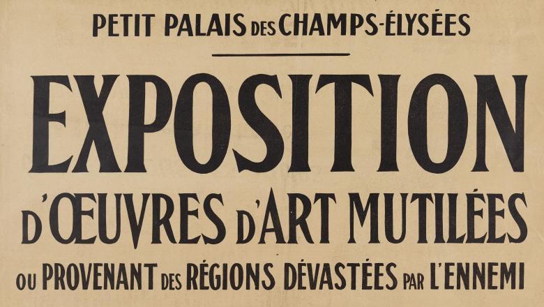 Affiche de l'exposition d'oeuvres d'art mutilées (1916)