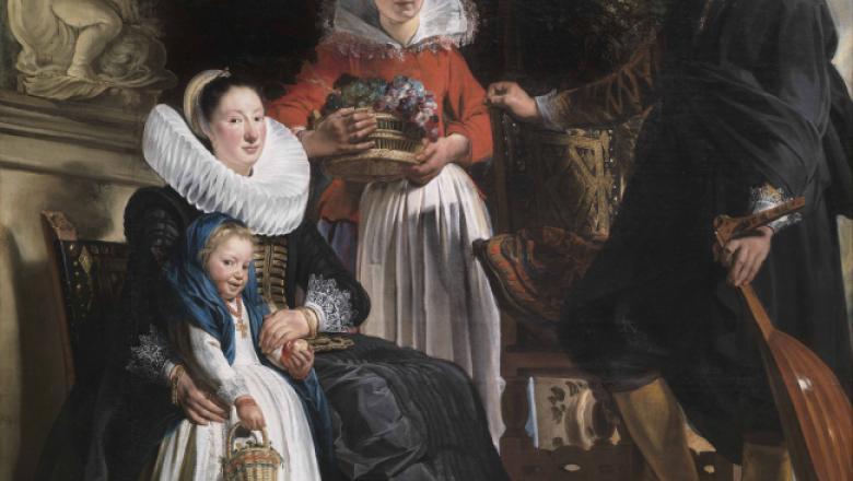 Jacques Jordaens (1593-1678) Portrait de la famille Jordaens avec une servante, / Crédit : Museo nacional del Prado, Madrid