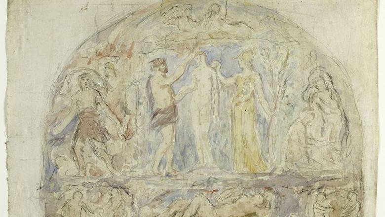 Scène allégorique (les dieux de l'Olympe)