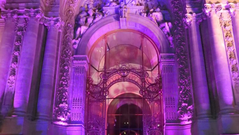 Façade extérieure du Petit Palais nuit