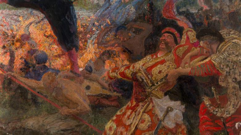 Ilya Répine, Le Gopak. Danse des cosaques zaporogues, 1926-1930. Collection particulière