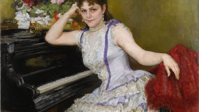 Ilya Répine, Portrait de Sophie Menter, 1887. Moscou, galerie nationale Trétiakov