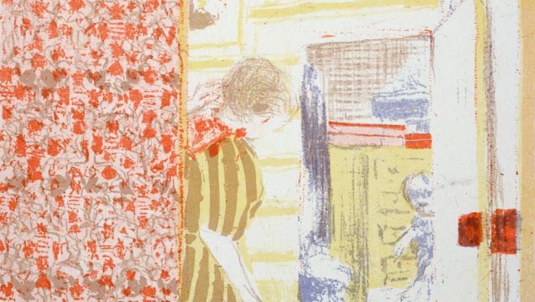 Vuillard, Intérieur aux tentures roses III