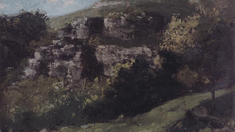 Courbet, Rochers à Ornans