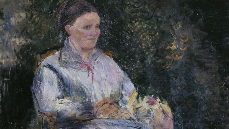 Pissarro, Julie Pissarro au jardin