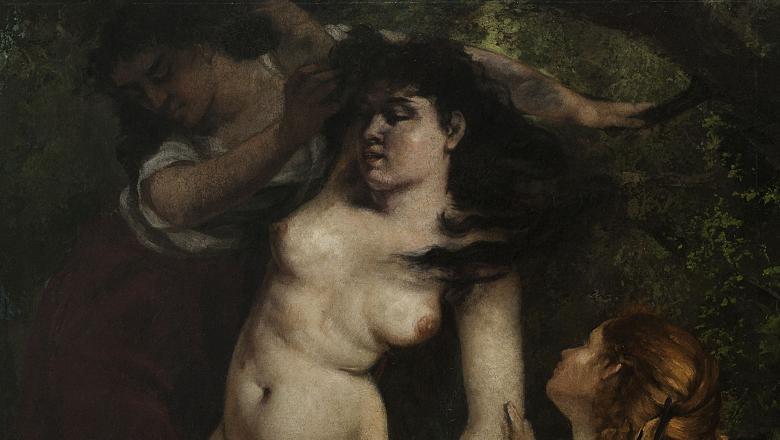 Courbet, Trois baigneuses