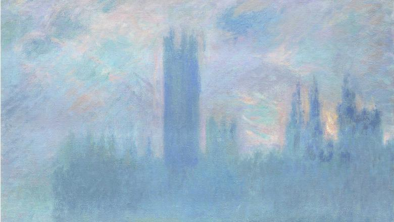 Claude Monet, Le Parlement de Londres, 1900-1901. Art Institute of Chicago. Photo © The Art Institute of Chicago
