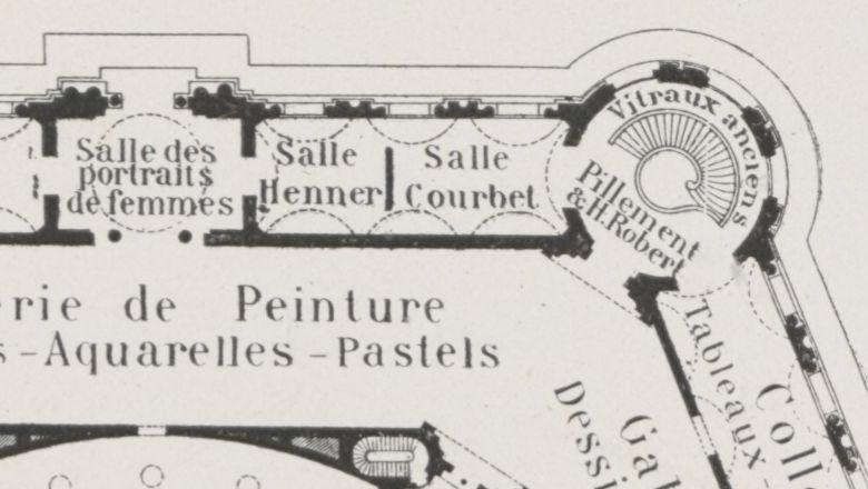 Plan du Petit Palais en 1910