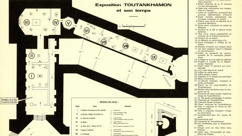 Plan des salles de l'exposition Toutânkhamon