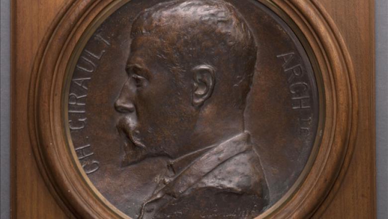 Crédit : Emile Peynot. Portrait de Charles Girault. Médaillon. 1885. Musée des Beaux-Arts de la Ville de Paris, Petit Palais. © Petit Palais / Roger-Viollet
