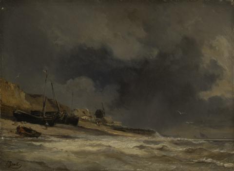 Isabey, Scène de pêcheurs